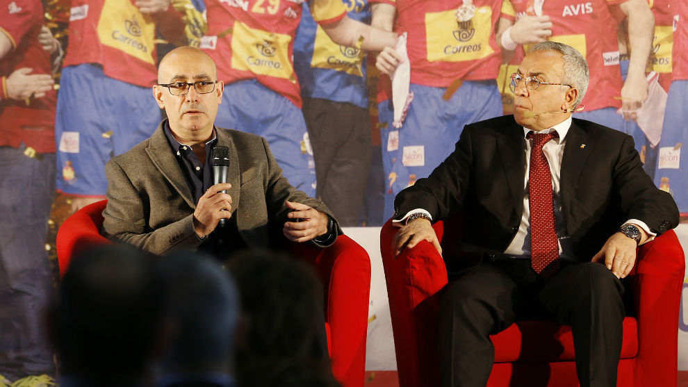 Jordi Ribera, junto al presidente del COE, Alejandro Blanco