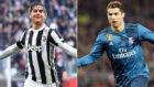Dybala (Juventus) y Cristiano Ronaldo (Real Madrid)