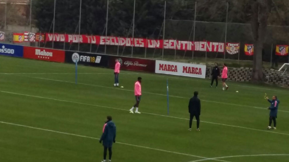 Atletico Madrid ultras protest over club badge at training ground