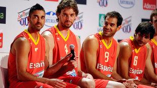 Navarro, Gasol, Calderón y Ricky en 2011
