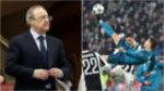 Florentino Pérez se puso en pie para celebrar el gol de Cristiano