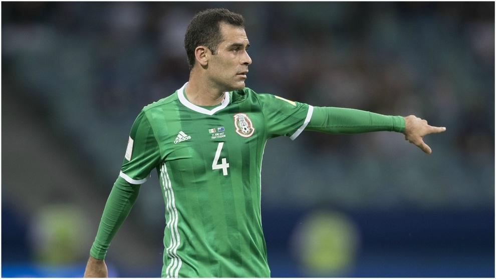 Rafa Márquez, en un partido con México en la Copa Confederaciones.