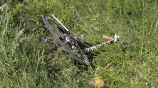 Imagen de archivo de los restos de una bicicleta tras un accidente