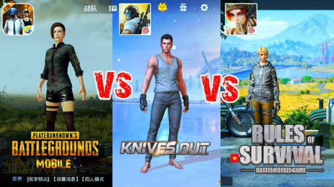 Comparativa de 'PlayerUnknown's Battlegrounds', 'Knives Out' y 'Rules...