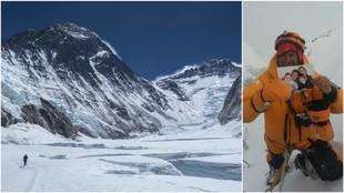 El Valle del Silencio, con el Everest y el Lhotse; a la derecha Javier...