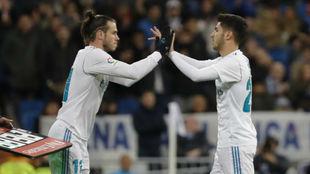 Bale entra por Asensio en un partido de Champions.
