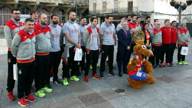 La selección de balonmano, en Ciudad Real /