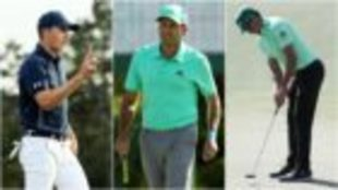Jordan Spieth, Sergio García y Rafa Cabrera Bello.