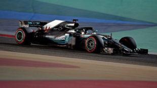 Lewis Hamilton, en Sakhir.