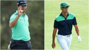 Jon Rahm y Rafa Cabrera, el viernes en Augusta.