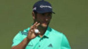 Jon Rahm, durante la segunda jornada del Masters de Augusta.
