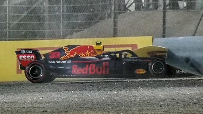 Verstappen, en el momento del accidente.