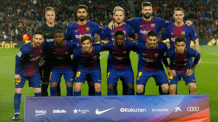 Once del Barça contra el Leganés.