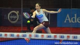 Alejandra Salazar, durante las semifinales del Estrella Damm Alicante...