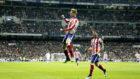 Fernando Torres celebra un gol en el Bernabéu