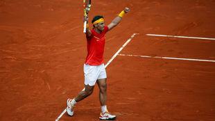 Rafael Nadal, tras vencer a Kohlschreiber en la primera jornada