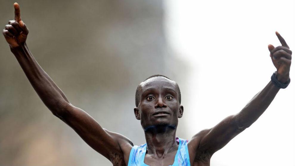El keniano Kenneth Kipkemoi, en una carrera
