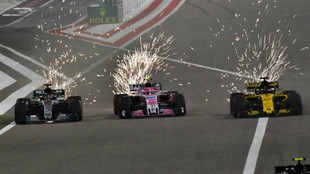 Hulkenberg, Pérez y Hamilton, en paralelo