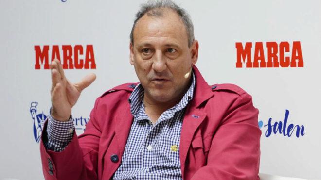 Fermín Cacho durante un reciente acto organizado por MARCA.