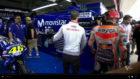 Marc, en el box de Yamaha