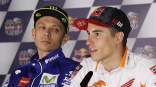 Rossi y Márquez, en una imagen de archivo
