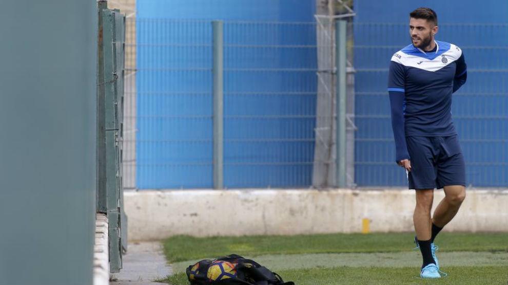 David López, durante un entrenamiento.