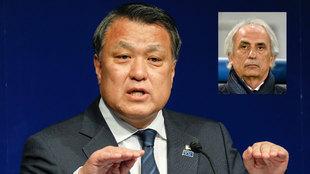 El presidente de la Asociación de Fútbol de Japón (JFA), Kohzo...