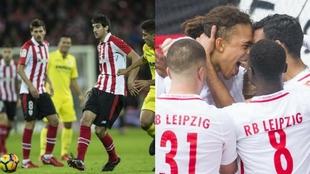 Villarreal vs Athletic y Leipzig vs Leverkusen, partidos más...