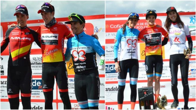 El podio masculino y el femenino.
