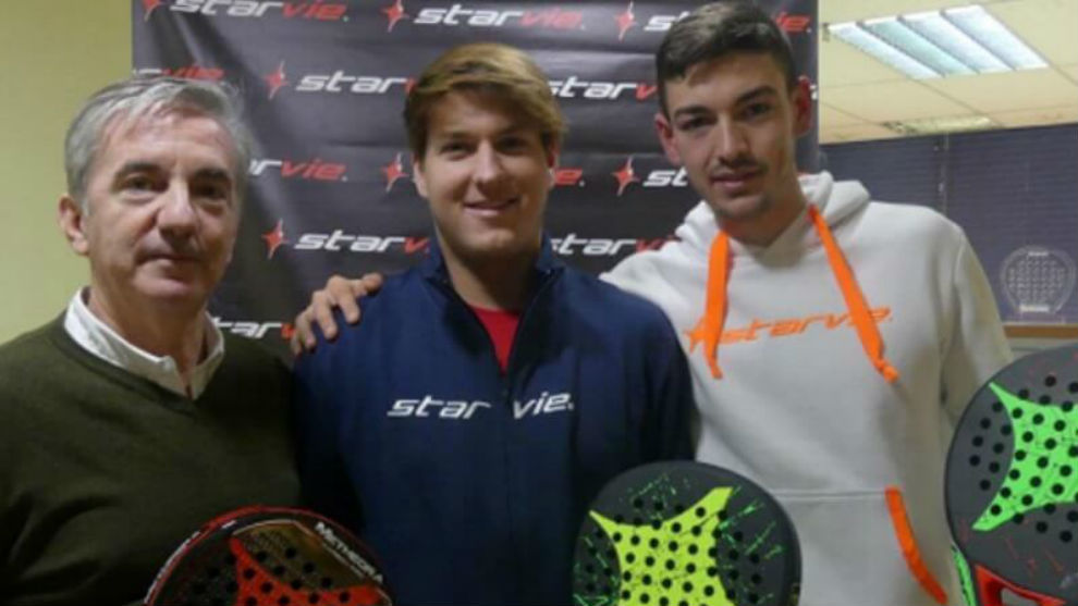 Jorge Gómez de la Vega, Salva Oria y Adrián Torres.