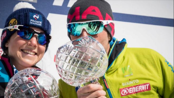 Axelle Mollaret y Michele Boscacci, ganadores de la Copa del Mundo.