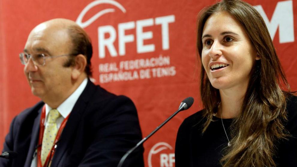 Anabel Medina, en una rueda de prensa