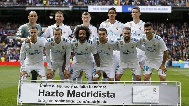Zidane and his 16-player lineup