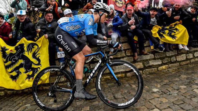 Michael Goolaerts, en el Tour de Flandes.