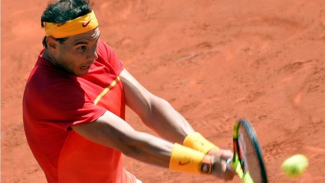Rafa Nadal, durante la eliminatoria de Copa Davis