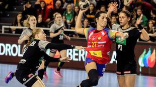 Lara González, en un reciente partido con la selección española...