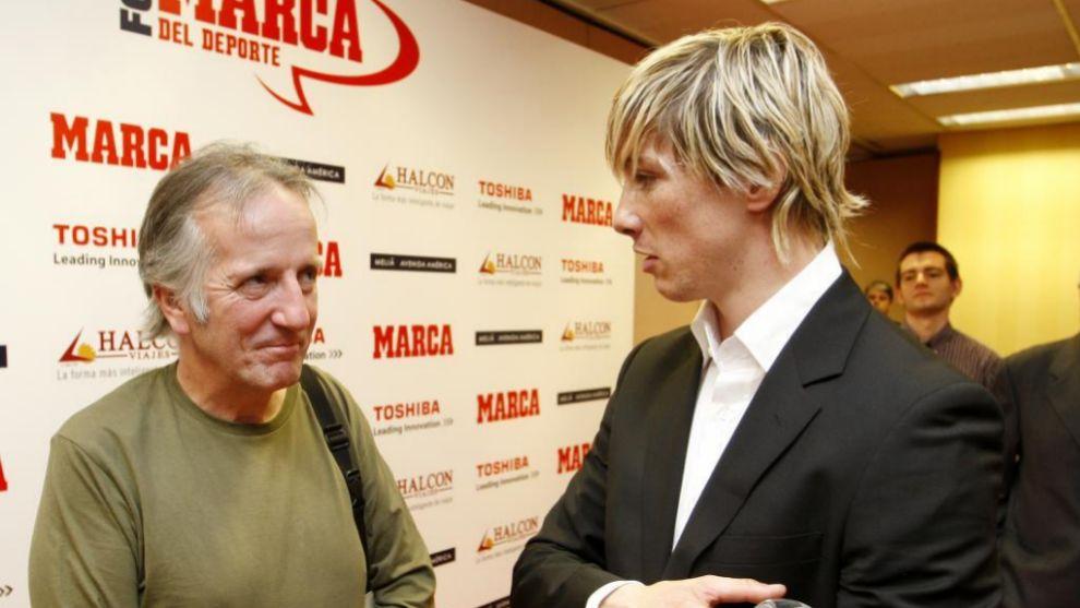 Pancho Varona junto a Fernando Torres