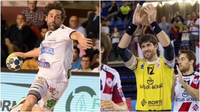 Juanín García y Gurutz Aginagalde, jugadores del Ademar y del...