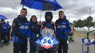 Beatriz Neila, con su equipo actual.