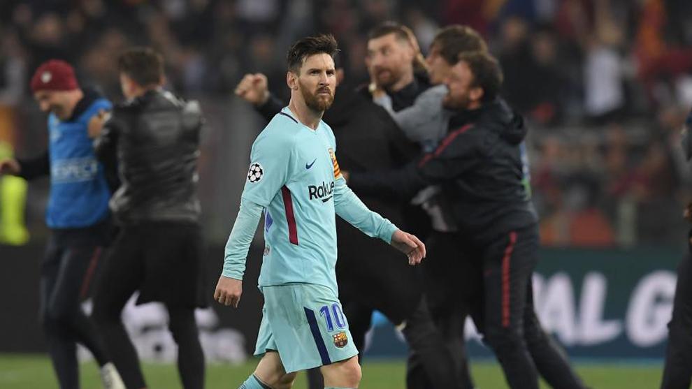 Messi se retira del Olímpico tras la derrota