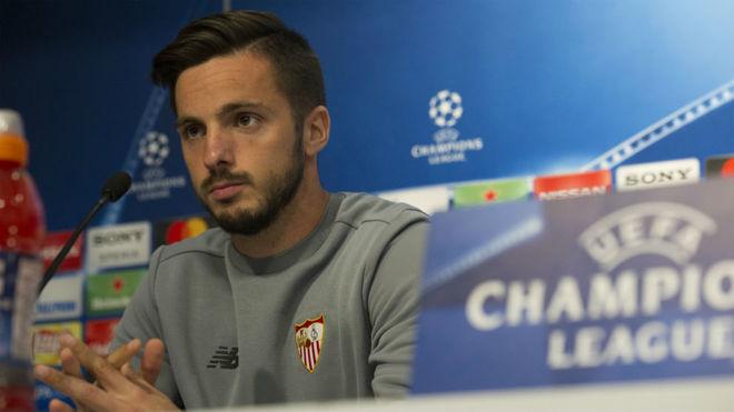Pablo Sarabia, en una rueda de prensa.
