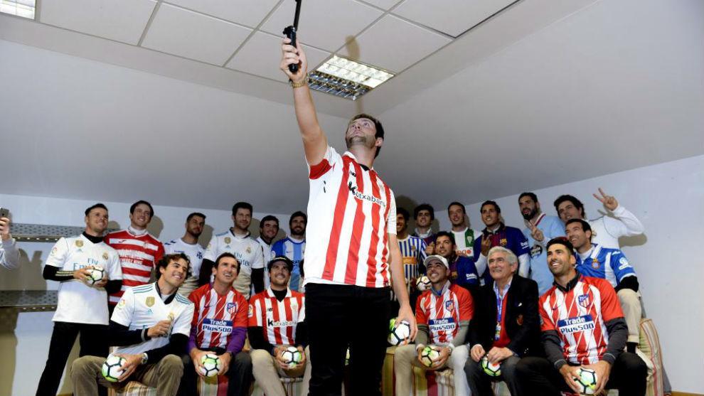 Jon Rahm, hincha del Athletic, con los otros 24 participantes...