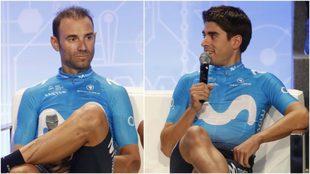 Alejandro Valverde y Mikel Landa.