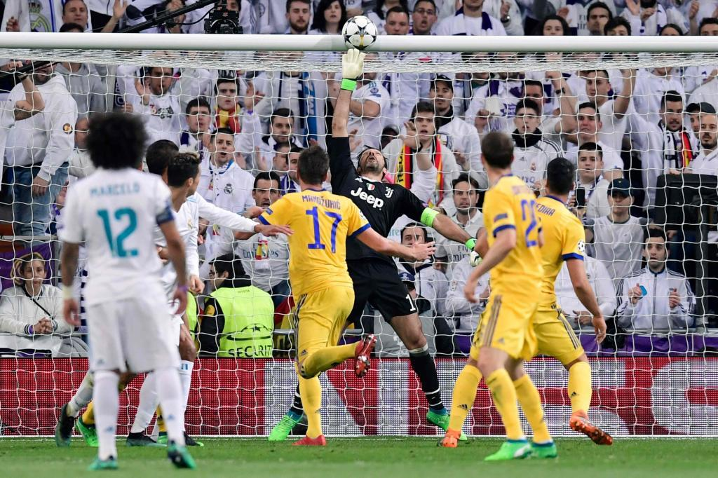 Varane beats Buffon but not the bar