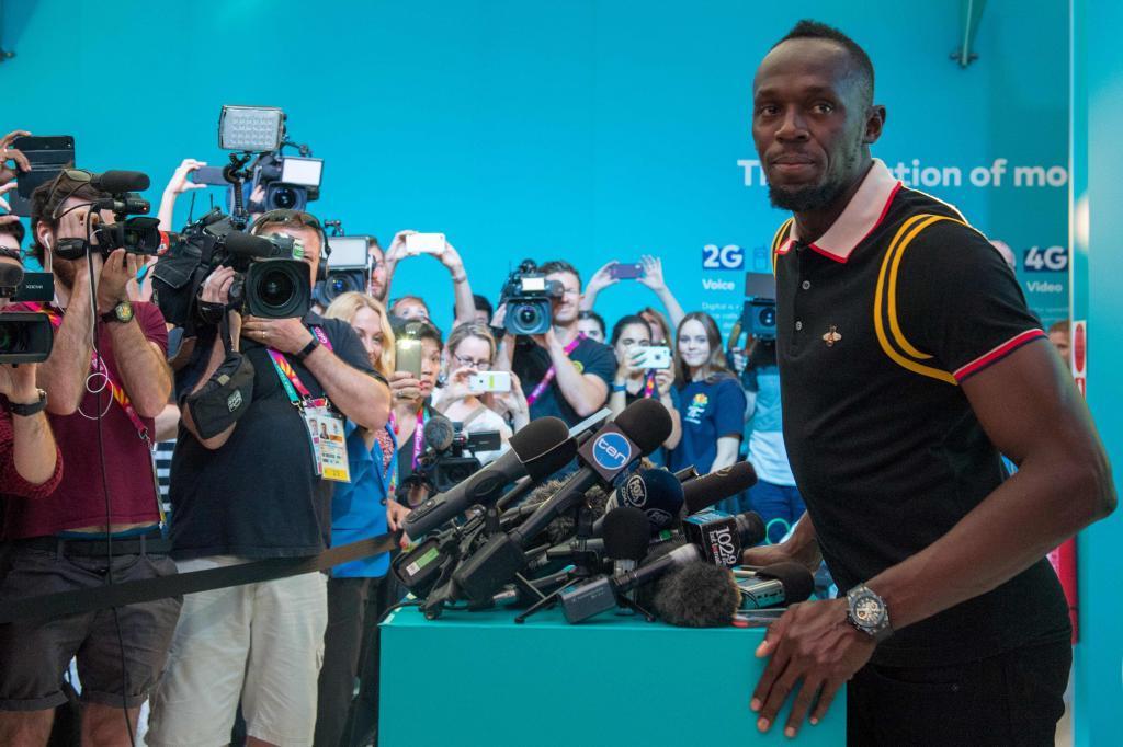 Usain Bolt con el objetivo de cumplir su meta en el futbol