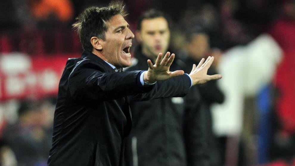 Berizzo durante su etapa como entrenador del Sevilla