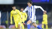 Oyarzabal en un partido de Liga contra el Villarreal