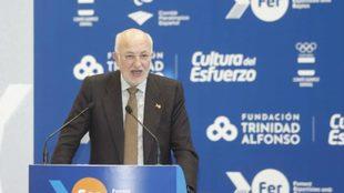 El presidente de la Fundación Trinidad Alfonso, Juan Roig, durante su...