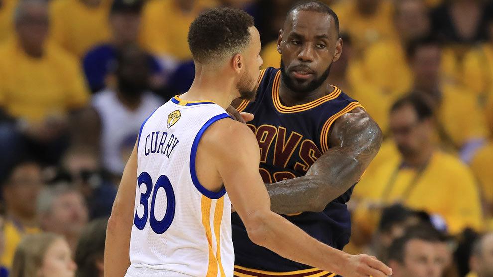 Warriors y Cavaliers; Curry y LeBron, los grandes favoritos al...