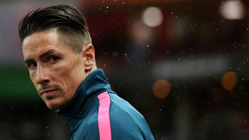 Torres, en un partido esta temporada con el Atlético